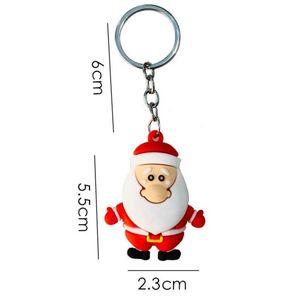 Merry Christmas Navidad Christmas Decoration Santa Claus Elk Snowman Keychain New Year Decoration 2021 Children Gift Xmas Noel sqcGlQ
