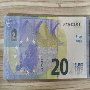 Simulação Brinquedo Coin 20 EUR Falso Prop dinheiro Dinheiro Shooting PROPS DINHEIRO BAR TOKENS 200 peças