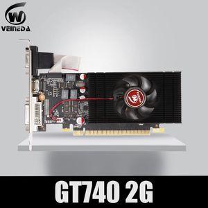 VEINEDA Grafikkarte Ursprüngliche neue Grafikkarte GT740 2GB GDDR5 128BIT für nVIDIA Geforce Spiele