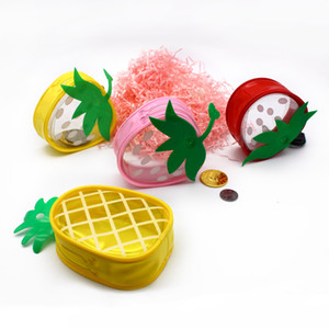 Pineapple Fruit Coin Purse Small Bag Women PVC Clear Jelly Handbags Girls Coin Card For Kids Purses Small Wallets