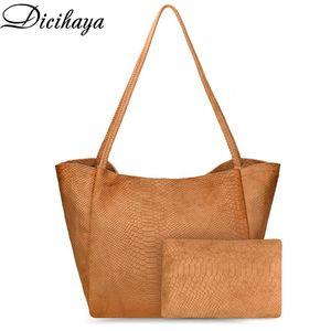 Dicihaya mulheres pu pu couro saco veludo bolsa de ombro para mulheres lona tote moda grande capacidade hobo moeda moeda feminino feminino