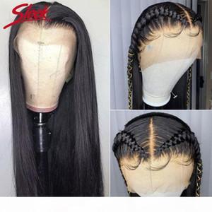360 Perruque pleine dentelle Human Hair Pinkke pour Black Femmes Brésilien Droite Dentelle Front Human Hair Wigs HD 360 Perruque frontale HD