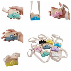 Ahşap Oyuncak Kamera Bebek Çocuk Asılı Kamera Fotoğraf Prop Dekorasyon Çocuk Eğitici Oyuncak Noel Hediyeleri Doğum Günü DHB4123