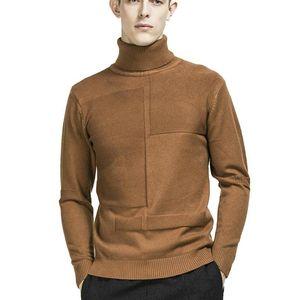 Zogaa winter männer turtkragenpullover massiv farbe langarm pullover männliche strickwaren slim fit gestrickt pullover mantel strickwaren