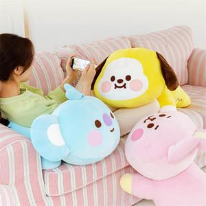 Yeni Stil Kawaii KPOP Yıldız Karikatür Bebek Görüntü Peluş Yastık Oyuncaklar Anime Köpek Bunny Koala Doldurulmuş Bebek Kız Arkadaşı için Nefis Hediye 201222