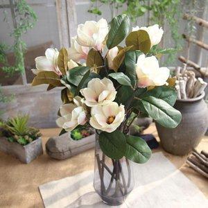 Artificielle Fake Flowers Feuille De Magnolia Floral Mariage Bouquet Entrée Décoration Accueil Décoration DIY Crown Scrapbook Vente chaude # 301