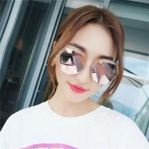 New clear round small face, super large size, comfortable and lovely ins fashionable sunglasses, women's travel trend