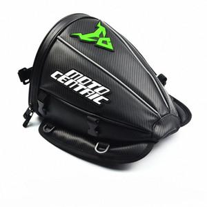 Queue imperméable de moto en fibre de carbone réfléchissant Sac Voyage réservoir Saddlebags 30X25X30 Jpy8 #