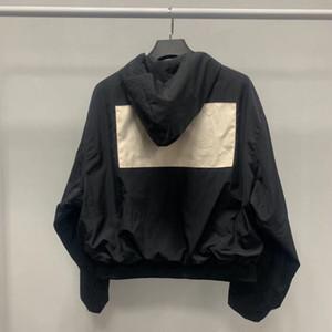 2020 Europa America Fear Of God marca firma la collaborazione del progettista Uomini FOG ricamo rivestimento delle donne della pelle del cappotto antivento Pizex Coat