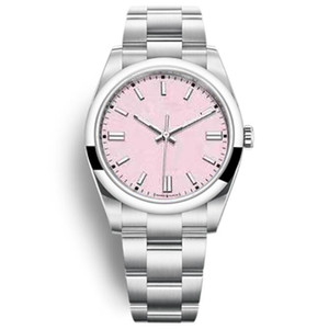 Free Transport Party Gifts Quality Mens Watches Women Red Pink 2813 Automatic Mechanical Movement Stainless Steel New Wristwatch Men Sport