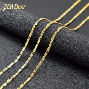Выводы ZEA Дорогой ювелирных изделий ювелирных изделий Bohemia звено цепь ожерелье Геометрических ожерелья для женщин Медь для помолвки