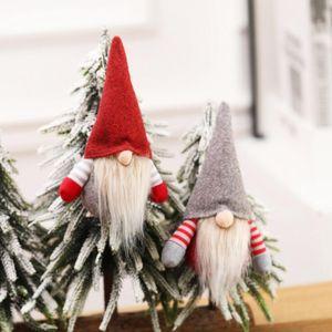 2020 Christmas Handmade Swedish Gnome Scandinavo Tomte Santa Nisse Nordico Peluche Peluche Tavolo Ornamento Xmas Tree Decorazione EWD2486
