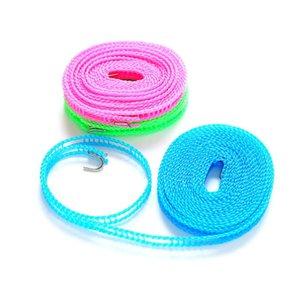 Winddicht 3m / 5m Kleiderbügel Seil Einstellbare Festigkeit Anti Rutsch Wäscheleine Nylon Haltbare Waschlinie BWB4706