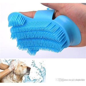 10Pcs New Silicone soft Pet Glove Massage tools Dog Brush Comb For Grooming Gloves Animal Finger Hair Cleaning brushes