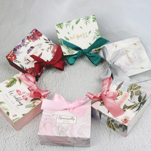 25 50 PCS Candy Bag Box Favor Gift Decore Event Party Supplies Wedding Favours Chocolate Gift Boxes Women's Bag with ribbon