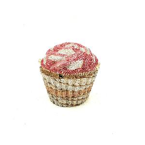 accessori donne eleganti bei diamanti frizioni di lusso di cristallo colorato Cupcake Matrimonio sposa borse di partito Q1113