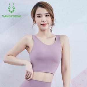 Sports Underwear Women Vest-type Workout Yoga Bra Running Shockproof Gym Bra Sexy Push Up Fitness Training Tops