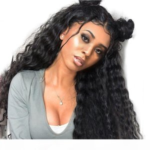 Water Wave Lace Front Wigs For Black Women Human Hair Wigs With Baby Hair Pre Plucked 150% Density Brazilian Virgin Hair Wig