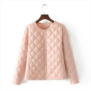 Women Winter Short Coats Ladies Solid Color Parka Slim Zipper Warm Female Lightweight Jacket Plus Size Fashion Casual