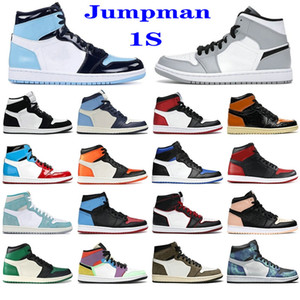 Expédition rapide Hommes Femmes Basketball Chaussures 1S Top Obsidian Unc Fearless Feirtom Turbo Green 1 Backboard Phantom Gym Gym Rouge Sneaker Trainer