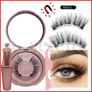 10 çeşit Manyetik Likit Eyeliner Manyetik Yanlış Eyelashes Cımbız Seti Mıknatıs Yanlış Eyelashes Seti Tutkal Araçları Makyaj