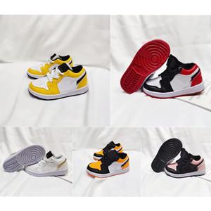 Zapatos para niños Tamaño 24-35 Jumpman 1 1S Niños Newdler New Designer Luz de color naranja Color Baby Baloncesto Zapatos