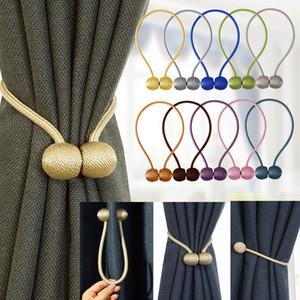 1Pc Magnetic Curtain Tieback High Quality Holder Hook Buckle Clip Curtain Tieback Polyester Decorative Home Accessorie Sheer Curtains