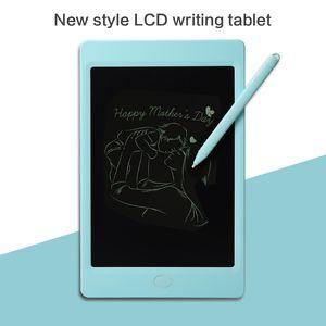 LCD 작성 태블릿 10 인치 필기 패드 메시지 보드 전자 드로잉 낙서 보드 아이들을위한 디지털 다채로운 칠판