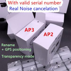 Mit Lärm pro Stornierung Air Gen 3 AP3 H1 Chip Kopfhörer Transparenz drahtlose Bluetooth-Kopfhörer AP2 Earbuds 2. Generation Lade