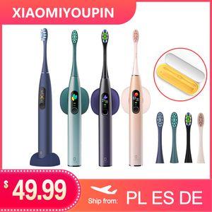 النسخة العالمية Oclean X برو سونيك فرشاة الأسنان الكهربائية الكبار IPX7 بالموجات فوق الصوتية شحن سريع الأسنان التلقائي شاشة فرشاة مع اللمس لXIAOMI
