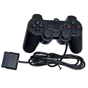 السلكية وحدة تحكم مقبض لPS2 الاهتزاز الوضع العليا لعبة الجودة تحكم المقود قابل للتطبيق المنتجات PS2 المضيف اللون الأسود