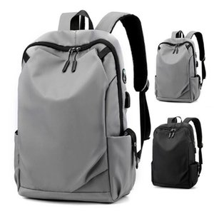 2020 Man Backpack Plain Nylon Large Capacity Travel Bag Unisex Schoolbag USB Backpacks Outdoor Travel