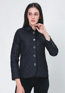 Quente Clássico! Mulheres moda Inglaterra de algodão fino curto acolchoado / jaqueta de alta qualidade para mulheres tamanho S-XXXL Seven Color C5pu