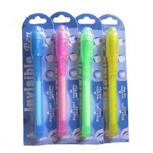 Индивидуальный Блистер Упаковка для каждого Black Light Pen, УФ-Pen С ультрафиолетовый свет / Invisible Ink Pen / Невидимый Pen OWF2636