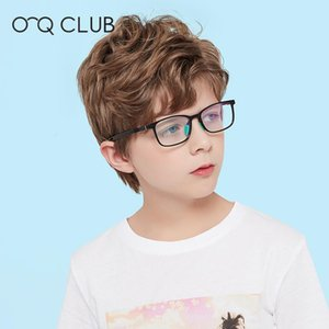 O-Q CLUB Kids Square Glasses Anti-Blue Light Blocking Eyeglasses Boys Girls Computer Protection Eyewear TR90 Silicone Spectacle