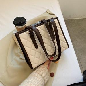 Olsitti Winter PU-Leder Diamant Gitter Damen Handtasche Mode Umhängetaschen Für Frauen 2021 Designer Reisetasche Sac A Main