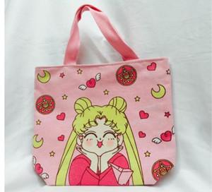Mode Sakura Mädchen Handtasche Sailor Moon nette Schulter-Beuteltote Lolita Cosplay Leinwand Aufbewahrungstasche Großhandels10pcs / lot!