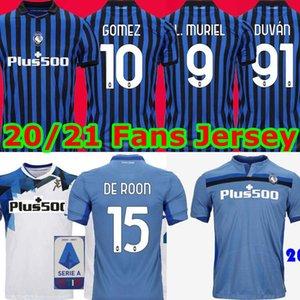 20 21 ATALANTA 2021 a.C. Atalanta Soccer Jersey # 10 PICCINI 21 # GOMEZ # 72 Iličić 20/21 Homens maglietta da calciatore