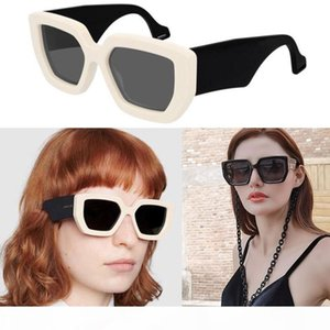 Fashion design sunglasses with big chain 0630 S 001 square frame classic style high quality uv400 protective men and women general glasses