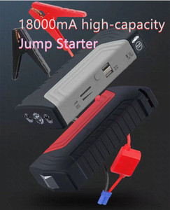 Jump Starter Car emergency start power cell phone notebook USB charger 12V9V5V output 18000MAH large capacity With light Escape hammer