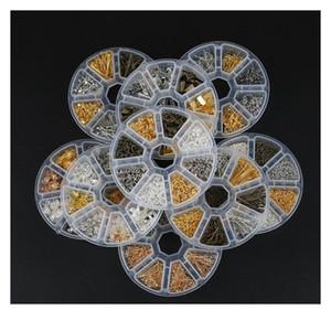 Schmuckherstellung Zubehör Boxen DIY-Ergebnisse Schmuckmaterial Perlen Caps Ohrring Haken Jump Ring Claspe Pins Legierung Qylqpp