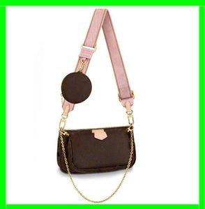 Klassische berühmte Handtasche Umhängetasche Geldbeutel Blume Schulter Umhängetasche Damen Geldbörsen dreiteilig