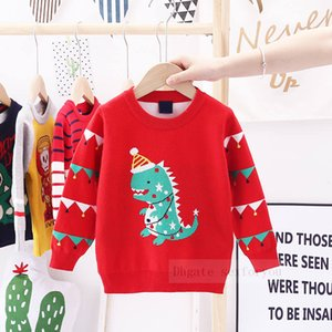 Thickening kid Sweater Autumn Winter Christmas Dinosaur Jacquard Clothes boys Girls Cotton Toddler Baby girls Pullover Sweater