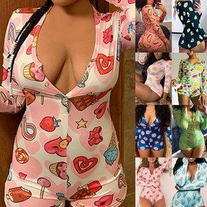 Sexy Pijama Women Long Sleeve Nightwear Shorts Jumpsuit Sleepwear Tracksuit Summer Onesie Pajama Onesie For Adults Women