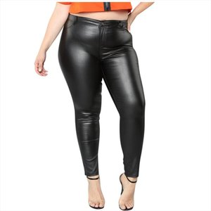 Sexy Women Stretch High Waist Leggings Large Size Pencil Pants Skinny Pu Leather Long Solid Slim Club Party Casual Trousers LR4