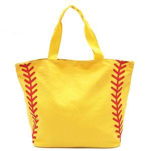 Foldable Shopping Bag Printed Portable Handbags Baseball Tote Softball Basketball Football Volleyball Canvas Bags 8 Style DHF3400