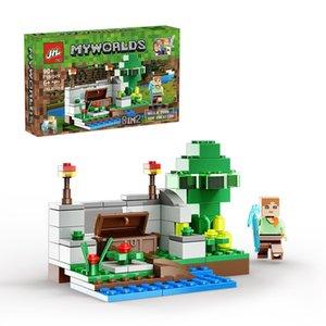Nouveau style mini blocs de construction de la ville du monde les puzzles cadeau de jouets pour enfants de haute qualité à petites particules à la fois garçon et une fille