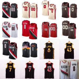 Devin 1 Booker Damian 0 Lillard 00 Anthony Kyle 7 Lowry Pascal 43 Siakam Zach 8 Lavine 24 Markkanen Men Basketball Jerseys