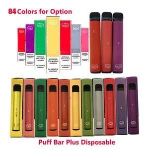 84Colors PUFF 술집 PLUS 퍼프 XXL 대 800 + 퍼프 일회용 포드 카트리지 550mAh 배터리 3.2mL 미리 채워진 Vape 포드 스틱 스타일 전자 담배