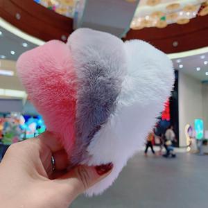 Nuove belle ragazze Pure fascia Colore Faux Fur Fashion Style Peloso Solid fasce delle donne della fascia dei capelli all'ingrosso Colori